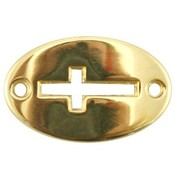 Goud Tussenzetsel ovaal kruis Goud DQ 20x13mm