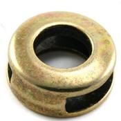 Antiek Goud Brons Leerschuiver rond Ø10x2.5 Brons DQ 14mm