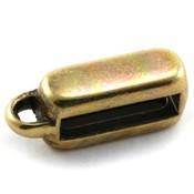 Antiek Goud Brons Leerschuiver met oog Ø10x2.5mm Brons DQ 16x6mm