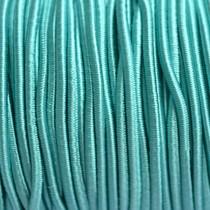 Turquoise Elastiek turquoise blauw 2mm - 1m