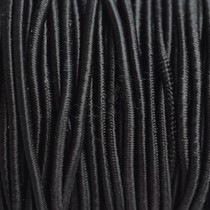 Zwart Elastiek zwart 2mm - 1m