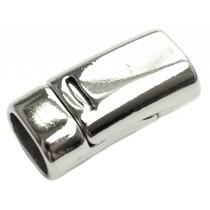 Zilver Magneetsluiting Ø10x7mm zilver 26x13mm