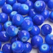 Blauw Glaskraal shine Hollands blauw 6mm - 50st
