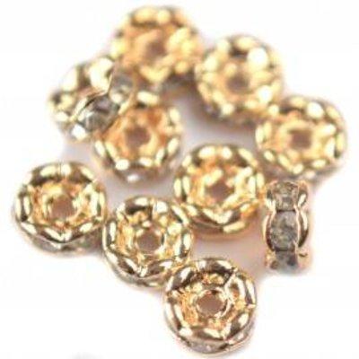 Zilver Crystal rondel zilver 4mm