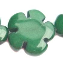 Groen Kraal bloem jade smaragd groen 15mm