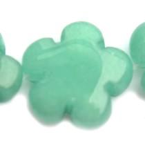 Turquoise Kraal bloem jade zeegroen 15mm