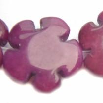 Paars Kraal bloem jade paars 15mm