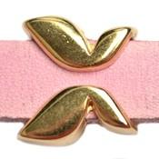 Goud Leerschuiver vlinder Ø10x2.5 Goud DQ 16mm