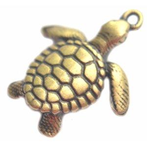 Antiek Goud Brons Bedel schildpad Brons DQ 20mm