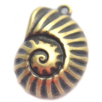 Antiek Goud Brons Bedel nautilus schelp Brons DQ 20mm