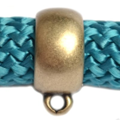 Antiek Goud Brons Kraal met oog Ø10mm Brons DQ 18x14mm