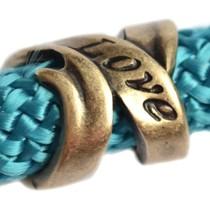 Antiek Goud Brons Kraal love Ø10mm Brons DQ 16mm