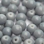 Grijs Glaskraal shine grijs 6mm - 50st