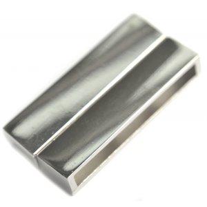 Zilver Magneetsluiting Ø34x4mm zilver 38x19mm