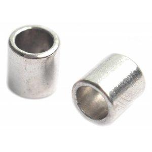 Zilver Kraal groot gat Ø6mm zilver 9mm - 5st