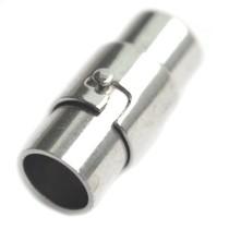 Zilver Magneetsluiting Ø6mm zilver 17x7mm