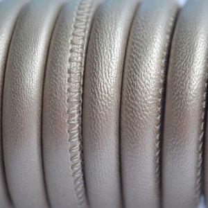 Goud Stitched leer PQ beige goud metallic 6mm - per cm