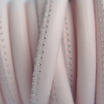 Roze Stitched leer PQ licht roze 6mm - per cm