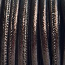 Bruin Stitched leer PQ bruin metallic 4mm - per cm