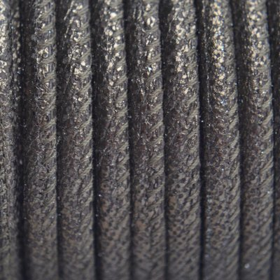 Bruin Stitched leer PQ goud brons metallic 4mm - per cm