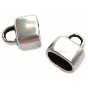 Zilver Eindkap glad Ø10x6mm Zilver DQ