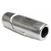 Zilver Magneetsluiting Ø5mm Zilver DQ 24x9mm
