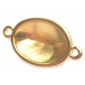 Goud Tussenzetsel setting ovaal voor swarovski Goud DQ