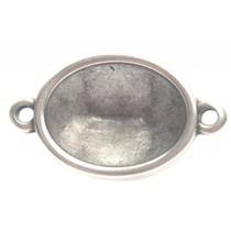 Zilver Tussenzetsel setting ovaal voor swarovski Zilver DQ
