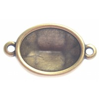 Antiek Goud Brons Tussenzetsel setting ovaal voor swarovski Brons DQ