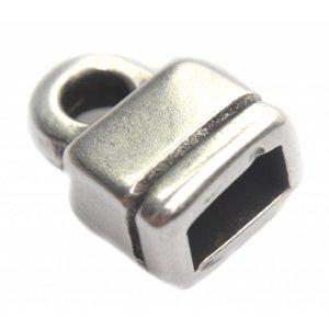 Zilver Eindkap Ø6x3mm Zilver DQ
