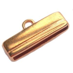 Rosegoud Eindkap 20x2.5mm Rosegoud DQ