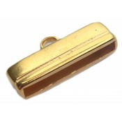 Goud Eindkap 20x2.5mm Goud DQ