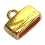 Goud Eindkap 10x2.5mm Goud DQ