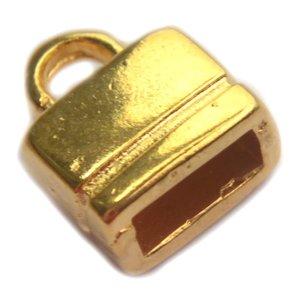 Goud Eindkap 6x2.5mm Goud DQ