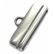 Zilver Eindkap 20x2.5mm Zilver DQ