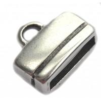 Zilver Eindkap 10x2.5mm Zilver DQ