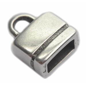 Zilver Eindkap 6x2.5mm Zilver DQ