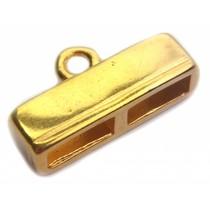 Goud Eindkap 2x10mm Goud DQ 38mm