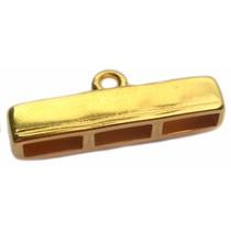 Goud Eindkap 3x10mm Goud DQ 38mm