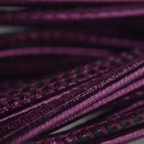 Paars Stitched leer PQ metallic fuchsia paars 2,5mm - prijs per cm
