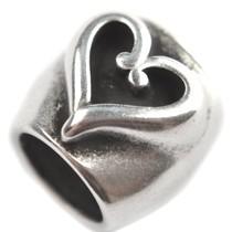 Zilver Kraal hart Ø10mm Zilver DQ