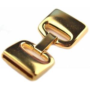 Goud Clip sluiting Ø20x2.5mm Goud DQ