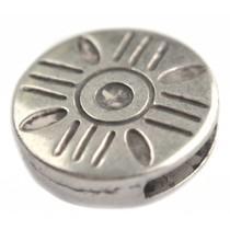 Zilver Leerschuiver Ø13x2.5mm Zilver DQ 18mm