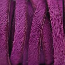 Roze Hairy leer roze paars 5mm - prijs per cm