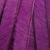 Roze Hairy leer fuchsia paars 10mm - prijs per cm