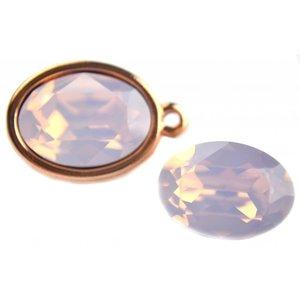 Roze Swarovski ovaal 4120 Rose Water Opal 14x10mm