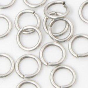 Zilver Ringetjes zilver DQ 8x1,2mm - 31 stuks