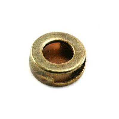 Antiek Goud Brons Leerschuiver setting 12mm cabochon Brons DQ 14mm