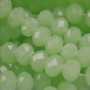 Groen Glaskraal facet rondel licht groen opaal 8x6mm - 35 stuks