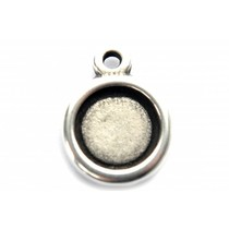 Zilver Cabochon setting zilver DQ 35mm